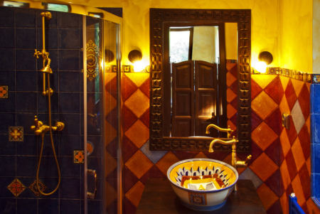 Bathroom with Mexican tiles